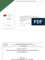 LOGICA MATEMATICA UNIDAD 2_ PASO 4 -MÉTODOS PARA PROBAR LA VALIDEZ DE ARGUMENTOS ACTIVIDAD INDIVIDUAL INTEGRANTES _ Nanita Paez - Academia.edu
