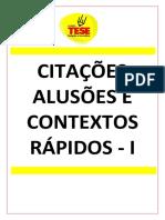CITAÇÕES E CONTEXTOS