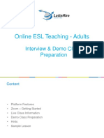 LH Interview & Demo Class Preparation - Adults
