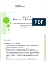 Aula 17 - Heranca e Polimorfismo