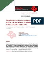 Vaillant_2019_Form Prof Educ Sec Revista-Profesorado