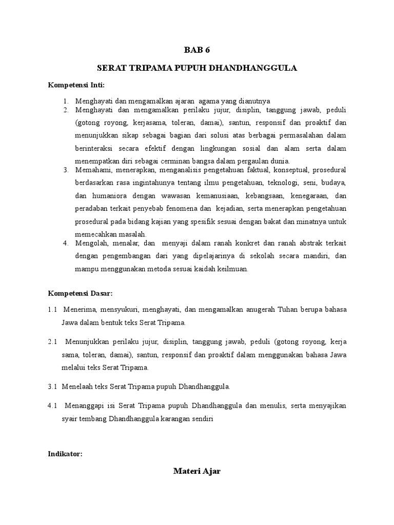 Bahasa Jawa Modul Genap Kelas Xii Doc