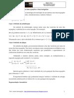 Álgebra Linear - Aula 5 - Sistemas Lineares