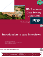 IIM Lucknow Case Solving Guide 2019