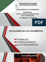 APLICACIONES DE LOS TRATAMIENTOS