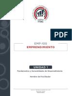 UNIDAD 1  Fundamentos y Generalidades de Emprendimiento