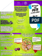 Tríptico buenos habitos alimenticios