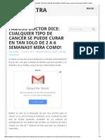 Famoso doctor dice_ CUALQUIER TIPO DE CANCER SE PUEDE CURAR en tan solo de 2 a 6 semanas!! MIRA COMO!