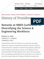 Remarks at NBER Conference on Diversifying the Science & Engineering Workforce 2005 Harvard University
