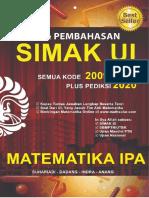 Spoiler Buku Matematika IPA SIMAK UI 2009-2019