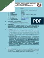 SILABO - INTRODUCCION A LA INGENIERIA CIVIL  2019- II
