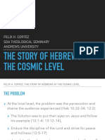 The Story of Hebrews at the Cosmic Level