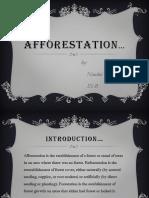 Afforestation powerpoint for nandni