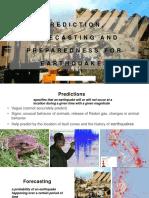 prediction forecasting and preparedness for earthquakes