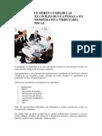 ASPECTOS QUE DEBEN CUMPLIR LAS ASOCIACIONES CIVILES DE GUATEMALA EN MATERIA ADMINISTRATIVA TRIBUTARIA LABORAL