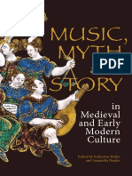 Music Myth and Story in Medieval and Early Modern Culture