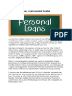 Instant Personal Loans Online in India