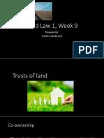 Land Law 1 W9