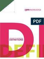 PMBOK APM Definitions