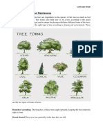 trees forms and maintenance