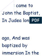 Baptism -primary song p  100