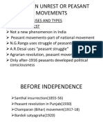AGRARIAN UNREST OR PEASANT MOVEMENTS