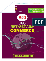 Ugc Net Commerce Mcq- 2020 (Hilal Ahmed)