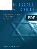 One God, One Lord Early Christian Devotion and Ancient Jewish Monotheism - Larry W. Hurtado.pdf