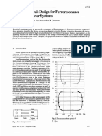Damping circuit design for ferroresonance in floating power systems