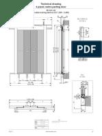 Fermator Landing Door 4 Panesl CO -model-4010