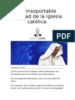 La insoportable fealdad de la Iglesia católica