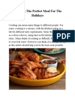 Planning the Perfect Meal for the Holidays
