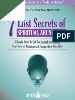 7 Lost Secrets Book of Spiritual Abundance
