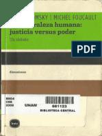 Foucault & Chomsky - (1971) La Naturaleza Humana. Justicia vs Poder