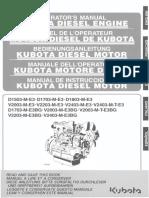 MANUAL DE INSTRUCCIONES - KUBOTA DIESEL MOTOR