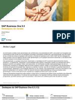 Webinar - Principais Funcionalidades - SAP Business One 9.3