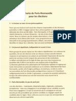 Charte d'indépendance de Paris-Normandie pour les élections municipales de 2020