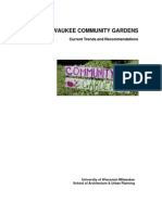 MILWAUKEE COMMUNITY GARDENS, Current Trends and Recommendations