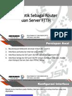 Mikrotik PPPoE,Hotspot - Pelatihan OLT dan FIber Optic JSN.pptx