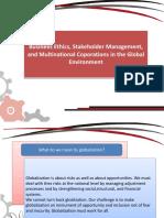 Business ethics, stakeholder management