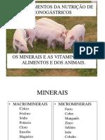 10.0. Os minerais e as vitaminas dos alimentos