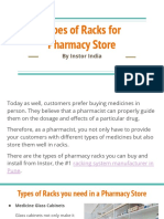 Types of Racks for Pharmacy Store by Instor India