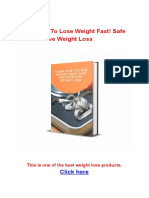 Learn How to Lose Weight Fast! Safe and Effective Weight Loss