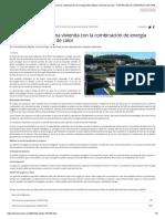 Vivienda- energía fotovoltaica y bba calor