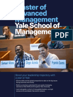 Yale SOM Master of Advanced Management 2019-2020
