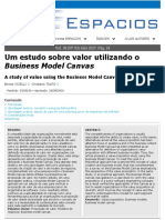 Um estudo sobre valor utilizando o Business Model Canvas