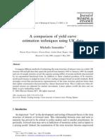 A Comparison of Yield Curve Estimation Techniques Using UK Data