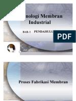 Teknologi Membran Industrial