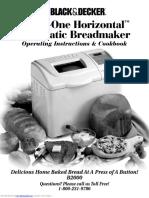 Black and Decker Breadmaker Recipe book _B2000