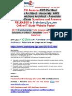 [November-2019]Braindump2go New AWS-Certified-Solutions-Architect-Associate Dumps PDF Free Share.pdf